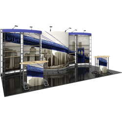 10ft x 20ft Aries Orbital Express Trade Show Truss Display with Fabric Graphics is a complete truss exhibit, professionally designed to fit a 10ft � 20ft trade show booth space. Orbital truss displays are most popular trade show displays