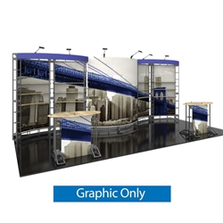 10ft x 20ft Aries Orbital Express Trade Show Truss Display Replacement Fabric Graphics. Create a beautiful trade show display that's quick and easy to set up without any tools with the 10ft x 20ft Venus Truss Display.