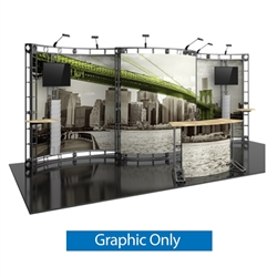 10ft x 20ft Apex Orbital Express Trade Show Truss Display Replacement Fabric Graphics. Create a beautiful trade show display that's quick and easy to set up without any tools with the 10ft x 20ft Apex Truss Display.