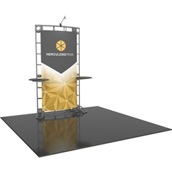 6ft Hercules 02 Orbital Express Truss Back Wall Display Kit with Fabric Graphics gives you the amazing look of a custom exhibit. Truss is the next generation in dynamic trade show structure. Orbital truss displays are most popular trade show displays