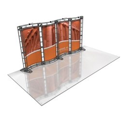 16ft Hercules 11 Orbital Express Truss Back Wall Kit wit Rollable Graphics is the next generation in dynamic trade show structure. Modular and portable display truss for stage systems, trade show exhibit stands, displays and backwall booths