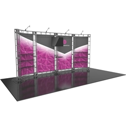 20ft Hercules 15 Orbital Express Truss Display with Fabric Graphics is the next generation in dynamic trade show structure. Modular and portable display truss for stage systems, trade show exhibit stands, displays and backwall booths