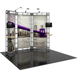 10ft x 10ft Lynx Orbital Express Trade Show Truss Display with Fabric Graphics. Create a beautiful trade show display that's quick and easy to set up without any tools with the 10x10 Lynx Truss Display. Truss displays are the most impactful exhibits