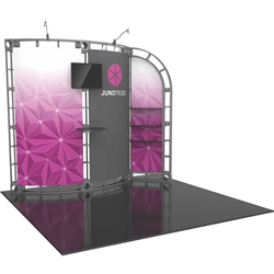 10ft x 10ft Juno Orbital Express Trade Show Truss Display with Fabric Graphics. Create a beautiful trade show display that's quick and easy to set up without any tools with the 10x10 Juno Truss Display. Truss displays are the most impactful exhibits