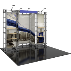 10ft x 10ft Eros Orbital Express Trade Show Truss Display Booth Hardware Only is a strong, professional, ultra-slick and stylish truss booth exhibit. Orbital Express Truss will give your next tradeshow the amazing look of a full custom exhibit.