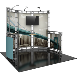 10ft x 10ft Metis Orbital Express Trade Show Truss Display Booth with Fabric Graphics is a strong, professional, ultra-slick and stylish truss booth exhibit. Orbital Express Truss will give your next tradeshow the amazing look of a full custom exhibit.