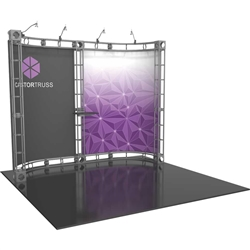 10ft x 10ft Castor Orbital Express Trade Show Truss Display with Fabric Graphics. Orbital Truss Express will give your next trade show the amazing look of a fully custom designed exhibit. Truss is the next generation in dynamic trade show displays