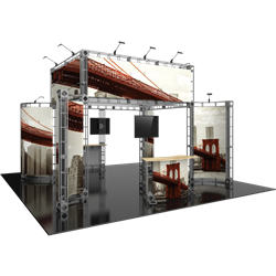 20ft x 20ft Island Aarhus Orbital Express Truss Display with Fabric Graphic is the next generation in dynamic trade show exhibits. Aarhus Orbital Express Truss Kit is a premium trade show display is designed to be used in a 20ft x 20ft exhibit space