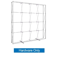 10ft x 10ft Embrace Extra Tall Push-Fit Tension Fabric Display Hardware Only. Portable tabletop displays and exhibits. Several different styles are available, including pop up frames with stretch fabric or fold up panels