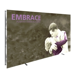 12.5ft x 8ft Embrace Extra Tall Push-Fit Tension Fabric Display with Front Fitted Graphic. Portable tabletop displays and exhibits. Several different styles are available, including pop up frames with stretch fabric or fold up panels