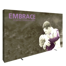 12.5ft x 8ft Embrace Extra Tall Push-Fit Tension Fabric Display with Full Fitted Graphic. Portable tabletop displays and exhibits. Several different styles are available, including pop up frames with stretch fabric or fold up panels