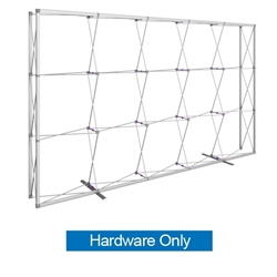 12.5ft x 8ft Embrace Extra Tall Push-Fit Tension Fabric Display Hardware Only. Portable tabletop displays and exhibits. Several different styles are available, including pop up frames with stretch fabric or fold up panels
