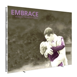 12.5ft x 10ft Embrace Extra Tall Push-Fit Tension Fabric Display with Front Fitted Graphic. Portable tabletop displays and exhibits. Several different styles are available, including pop up frames with stretch fabric or fold up panels