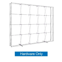 12.5ft x 10ft Embrace Extra Tall Push-Fit Tension Fabric Display Hardware Only. Portable tabletop displays and exhibits. Several different styles are available, including pop up frames with stretch fabric or fold up panels