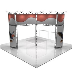 This 20 x 20 custom trade show truss system will help you stand out at the next trade show, drawing attention from across the exhibit floor.  Truss exhibits are one of the most structurally elaborate trade show displays.  They are popular with exhibitors