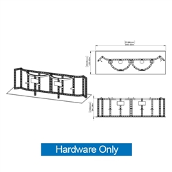20ft x 20ft Island Canis Orbital Express Truss Display Hardware Only is the next generation in dynamic trade show exhibits. Canis Orbital Express Truss Kit is a premium trade show display is designed to be used in a 20ft x 20ft exhibit space