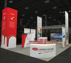 Custom trade show exhibit structures, like design # 699601 stand out on the convention floor. Draw eyes to your trade show booth with exciting custom exhibits & displays. We can customize any trade show exhibit or display to your specifications.