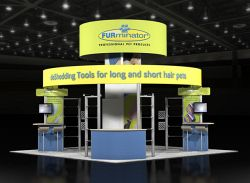 Custom trade show exhibit structures, like design # 48063 stand out on the convention floor. Draw eyes to your trade show booth with exciting custom exhibits & displays. We can customize any trade show exhibit or display to your specifications.