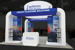 Custom trade show exhibit structures, like design # 584340 stand out on the convention floor. Draw eyes to your trade show booth with exciting custom exhibits & displays. We can customize any trade show exhibit or display to your specifications.