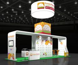 Custom trade show exhibit structures, like design # 62595 stand out on the convention floor. Draw eyes to your trade show booth with exciting custom exhibits & displays. We can customize any trade show exhibit or display to your specifications.