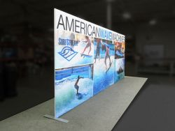 Custom trade show exhibit structures, like design # 0425579 stand out on the convention floor. Draw eyes to your trade show booth with exciting custom exhibits & displays. We can customize any trade show exhibit or display to your specifications.