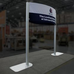 Custom trade show exhibit structures, like design # 0746772 stand out on the convention floor. Draw eyes to your trade show booth with exciting custom exhibits & displays. We can customize any trade show exhibit or display to your specifications.