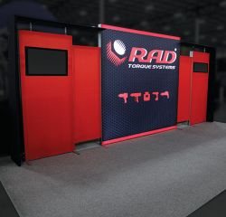 Custom trade show exhibit structures, like design # 0749485 stand out on the convention floor. Draw eyes to your trade show booth with exciting custom exhibits & displays. We can customize any trade show exhibit or display to your specifications.