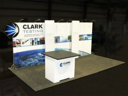 Custom trade show exhibit structures, like design # 319252 stand out on the convention floor. Draw eyes to your trade show booth with exciting custom exhibits & displays. We can customize any trade show exhibit or display to your specifications.
