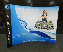 Custom trade show exhibit structures, like design # 0354475 stand out on the convention floor. Draw eyes to your trade show booth with exciting custom exhibits & displays. We can customize any trade show exhibit or display to your specifications.
