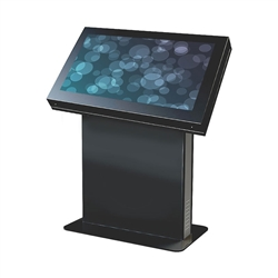 "46"" fully customizable digital signage kiosk by Peerless.  Create a custom digital kiosk by choosing this elegant enclosure, a commercial grade monitor of your choice and any media player or computer that suits your needs. This flexibility also ensures th"