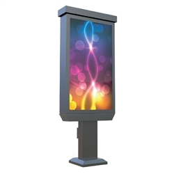 Replace your old back-lit signs with a dynamic high definition 55in Outdoor Commercial LCD All-In-One Pedestal Display deliver video, photos and audio to help blend strong branding, and digital signage and product displays.
