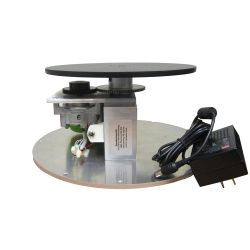 This skeleton display turntable is identical to the enclosed version with the exception of a cover.  You can save some money by building your own.  Comes standard with clockwise rotation at  1.0, 1.3, 2.0 or 2.6 RPM and 200 lb Capacity.