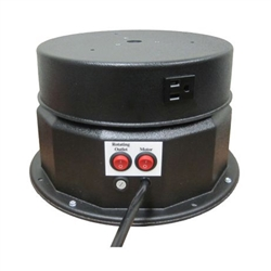This display turntable ships in one day and is ready to use out of the box.  Comes standard with rotating 8 amp outlet, clockwise rotation at 1.3 or 2.6 RPM and 200 lb Capacity.  Get your display noticed with motion!