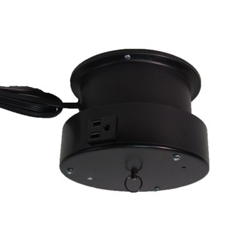This rotating ceiling motor for hanging displays ships in one day and is ready to use out of the box.  Comes standard with rotating 4 amp outlet, clockwise rotation at 3 RPM and 15 lb Capacity.  Get your display noticed with motion!