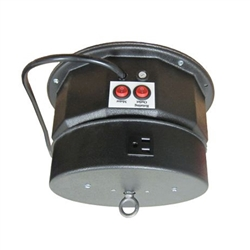 This rotating ceiling motor for hanging displays ships in one day and is ready to use out of the box.  Comes standard with rotating 8 amp outlet, clockwise rotation at 1.3 or 2.6 RPM and 200 lb Capacity.  Get your display noticed with motion!