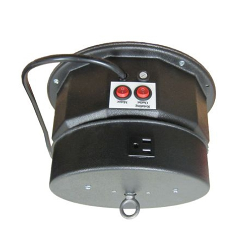 Rotating Ceiling Motor for Hanging Displays w/ Outlet at Trades ...