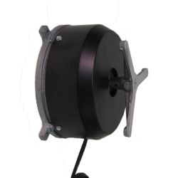 This wall mounted rotating display turntable ships in one day and is ready to use out of the box.  Comes standard with clockwise rotation at 2 RPM and 40 lb Capacity. Get your display noticed with motion!