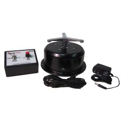This variable speed rotating display turntable ships in one day and is ready to use out of the box.  Comes standard with clockwise rotation with 1-4 RPM setting and 50 lb Capacity. Get your display noticed with motion!