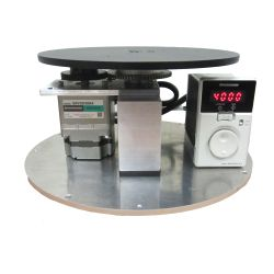 This variable speed rotating display turntable ships in one day and is ready to use out of the box.  Comes standard with clockwise rotation with up to 13.3 RPM setting and 200 lb Capacity. Get your display noticed with motion!