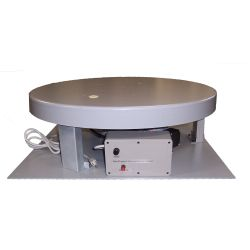 This rotating display turntable ships in one day and is ready to use out of the box.  Comes standard with clockwise rotation at 1 RPM and 1,000 lb Capacity. Get your display noticed with motion!