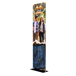 24in x 90in EZ Extend Tension Fabric Banner Stand | Double-Sided | One-Choice