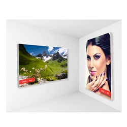 2ft x 2ft Vail 40S Non-Backlit Single-Sided Graphic Package. Vail-120DB Fabric Frame can be use in Retail Stores, Malls, Kiosks, Restaurants, Art Galleries, Grand Openings, Trade Shows, Offices, Showrooms.