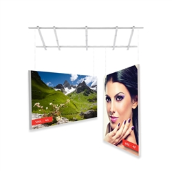 2ft x 2ft Vail 40D Non-Backlit Single-Sided Graphic Package. Vail-120DB Fabric Frame can be use in Retail Stores, Malls, Kiosks, Restaurants, Art Galleries, Grand Openings, Trade Shows, Offices, Showrooms.