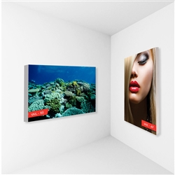 2ft x 2ft Vail 60S Non-Backlit Single-Sided Graphic Package. Vail-120DB Fabric Frame can be use in Retail Stores, Malls, Kiosks, Restaurants, Art Galleries, Grand Openings, Trade Shows, Offices, Showrooms.