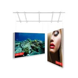 2ft x 3ft Vail 60D Non-Backlit Double-Sided Graphic Package. Vail-120DB Fabric Frame can be use in Retail Stores, Malls, Kiosks, Restaurants, Art Galleries, Grand Openings, Trade Shows, Offices, Showrooms.