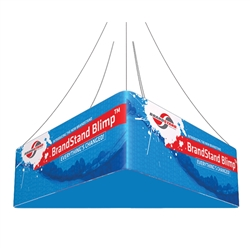 12ft x 24in Blimp Trio Hanging Tension Fabric Banner (Double-Sided Kit)