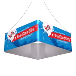 8ft x 24in Blimp Quad Hanging Tension Fabric Banner (Single-Sided Kit)