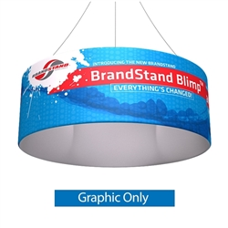 8ft x 24in Blimp Tube Hanging Banner Single-Sided Print (Graphic Only)