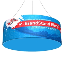 12ft x 24in Blimp Tube Hanging Tension Fabric Banner (Double-Sided Kit)