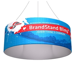 8ft x 24in Blimp Tube Hanging Tension Fabric Banner (Single-Sided Kit)